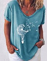 cheap -Women's Geometric T-shirt Daily White / Black / Blue / Blushing Pink / Army Green / Gray