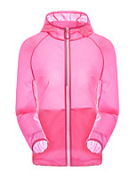 cheap -Women's Hiking Skin Jacket Hiking Jacket Summer Outdoor Waterproof Sunscreen Breathable Quick Dry Jacket Hoodie Top Spandex Running Hunting Fishing Fuchsia / Pink / Sky Blue