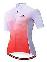 cheap -Miloto Women's Short Sleeve Cycling Jersey Red / White Bike Jersey Top Mountain Bike MTB Road Bike Cycling Breathable Quick Dry Sports Clothing Apparel / Stretchy