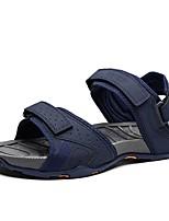 cheap -Men's Summer Outdoor Sandals PU Black / Khaki / Blue