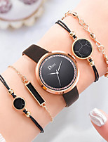 cheap -Women's Quartz Watches Casual Fashion Black White Green PU Leather Chinese Quartz White Black Blushing Pink Cute Casual Watch Imitation Diamond 1 set Analog One Year Battery Life