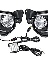 cheap -Pair LED DRL Daytime Running Lights White Fog Lamps Yellow with H16 Halogen Bulbs For Toyota Hiace 2014-2018