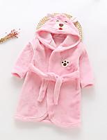cheap -Kid's Kigurumi Pajamas Bathrobe Oodie Rabbit Bunny Onesie Pajamas Flannel Fabric Yellow / Pink / Brown Cosplay For Boys and Girls Animal Sleepwear Cartoon Festival / Holiday Costumes / Bath Robe