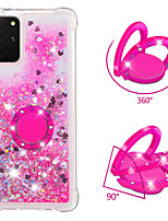 cheap -Case for Samsung scene graph S20 S20 Plus S20 Ultra A51 A71 glitter powder sand four corners drop-resistant diamond ring bracket all-inclusive mobile phone case YB