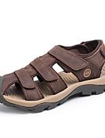 cheap -Men's Summer Outdoor Sandals PU Non-slipping Light Brown / Khaki / Brown