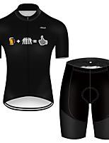 Недорогие -21Grams Муж. С короткими рукавами Велокофты и велошорты Полиэстер Черный / Белый Смешной Пиво Октоберфест Велоспорт Наборы одежды Дышащий 3D / Эластичная / Горные велосипеды / Шоссейные велосипеды