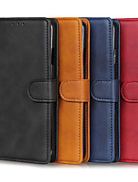 cheap -Case For Motorola MOTO E6 plus / MOTO G8PLUS / MOTO G8PLAY Card Holder / Shockproof Full Body Cases Solid Colored PU Leather