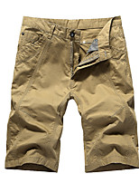 "cheap -Men's Hiking Shorts Hiking Cargo Shorts Summer Outdoor 12"" Loose Breathable Quick Dry Front Zipper Sweat-wicking Cotton Shorts Bottoms Camping / Hiking Hunting Fishing White Army Green Khaki 29 30 31"