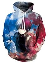 cheap -Inspired by My Hero Academia Boko No Hero Ochaco Uraraka Cosplay Costume Hoodie Polyster Print Printing Hoodie For Men's / Women's