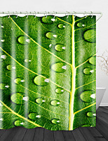 cheap -Leaf Brops Digital Print Waterproof Fabric Shower Curtain for Bathroom Home Decor Covered Bathtub Curtains Liner Includes with Hooks
