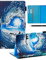 cheap -A Case With A Pen Samsung Galaxy Samsung Tab T585/590/515/725/580/595/510/720 with Stand / Flip / Ultra-thin Back Cover Sky PU Leather
