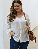 cheap -2020 SUMMER Cotton Button Top PLUS SIZE