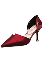 cheap -Women's Heels 2020 Spring & Summer / Fall & Winter Stiletto Heel Pointed Toe Sexy Sweet Daily Party & Evening Solid Colored PU Black / Burgundy