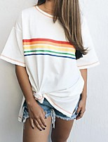 cheap -Summer Casual Rainbow T-Shirt