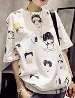 cheap -Women's Cartoon T-shirt Daily White