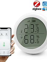 Недорогие -Датчик температуры и влажности Zigbee с ЖК-экраном, работающий с концентратором Tuya ZigBee на батарейках Smart Life