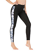 cheap -Women's High Waist Yoga Pants Print Black Running Fitness Gym Workout Tights Leggings Sport Activewear Quick Dry Butt Lift Tummy Control Stretchy Skinny