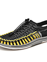 cheap -Men's Summer Casual Daily Beach Sandals Water Shoes / Walking Shoes Elastic Fabric Breathable Non-slipping White / Yellow / Red Color Block