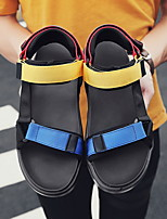cheap -Men's Summer Outdoor Sandals PU Non-slipping Black / Rainbow