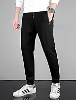 cheap -Men's Hiking Pants Summer Outdoor Loose Breathable Quick Dry Sweat-wicking Comfortable Cotton Pants / Trousers Bottoms Running Camping / Hiking Hunting Black XL XXL XXXL 4XL 5XL / Wear Resistance