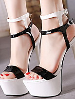 cheap -Women's Heels Spring & Summer Stiletto Heel Round Toe Daily PU Black / White / Red / Black