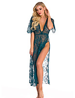 cheap -Women's Lace / Mesh Suits Nightwear Solid Colored Wine White Black S M L