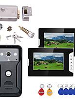 Недорогие -7-дюймовый 2-дюймовый видеодомофон домофон RFID-система с HD дверной звонок 1000tvl камера с домашней нержавеющей стали электронный дверной замок