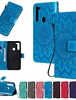 cheap -Case For Motorola MOTO E7 / MOTO E6 plus / MOTO G8PLUS Wallet / Card Holder / with Stand Full Body Cases Solid Colored / Flower PU Leather For MOTO G8 Power/Z3 Play/Z4 Play/P40/G8/E6 Play