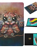 cheap -Case For Samsung Galaxy Tab A 10.1(2019)T510/Tab A 8.0(2019)T290/295 /Tab S6 T860/865 Card Holder / with Stand/Pattern Full Body Cases Animal PU Leather For Tab S6lite P610/P615/Tab S5E T720