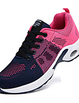 cheap -Women's Trainers / Athletic Shoes Spring & Summer Flat Heel Round Toe Sporty Athletic Elastic Fabric / Tissage Volant Running Shoes Black / Purple / Blue
