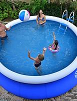 Недорогие -220 В открытый большой бассейн для взрослых детей семейный надувной детский бассейн кронштейн разведения аквариума ванна