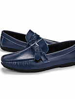 cheap -Men's Summer Casual Daily Loafers & Slip-Ons PU Non-slipping Wine / Blue / Brown
