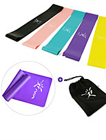 cheap -Resistance Loop Exercise Bands Resistance Bands for Legs and Butt 5 pcs Resistance Bands Sports Latex Home Workout Yoga Pilates Portable Durable Lift, Tighten And Reshape The Plump Buttock Shaper