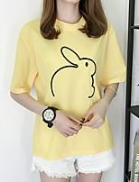 cheap -Women's Geometric T-shirt Daily White / Black / Yellow