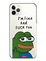 cheap -Case For Apple iPhone 11/11 Pro/11 Pro Max/XS/XR/XS Max/8 Plus/7 Plus/6S Plus/8/7/6/6s/SE/5/5S Transparent Pattern Back Cover Funny Frog Soft TPU
