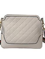 cheap -Women's Zipper Cowhide Crossbody Bag Solid Color White / Black / Red