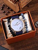 cheap -Men's Sport Watch Quartz Nylon Blue Chronograph Casual Watch Cool Analog Vintage Fashion - Blue