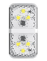 cheap -Baseus 6 LED Car Door Opening Safety Warning Light Anti Collision Alternating Flashing Signal Lamps White Color 2PCS