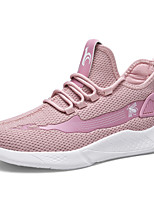 cheap -Women's Trainers / Athletic Shoes Summer Flat Heel Round Toe Sporty Athletic Elastic Fabric / Tissage Volant Running Shoes Black / White / White / Pink