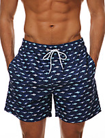 cheap -Men's Swim Shorts Swim Trunks Bottoms Breathable Quick Dry Drawstring - Swimming Surfing Water Sports 3D Print Autumn / Fall Summer