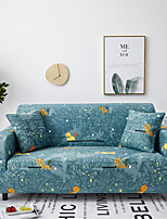 cheap -Blue Cartoon Cat Print Dustproof All-powerful Slipcovers Stretch Sofa Cover Super Soft Fabric Couch Cover with One Free Pillow Case
