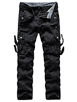 cheap -Men's Hiking Pants Hiking Cargo Pants Camo Summer Outdoor Standard Fit Breathable Quick Dry Soft Sweat-wicking Cotton Pants / Trousers Bottoms Running Camping / Hiking Hunting Black Army Green