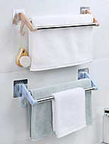 cheap -Hot Stainless Steel Double Towel Bar Rotating Towel Rack Bathroom Kitchen Wall-mounted Towel Polished Rack Holder Double Holder Color Random