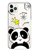 cheap -Case For Apple iPhone 11/11 Pro/11 Pro Max/XS/XR/XS Max/8 Plus/7 Plus/6S Plus/8/7/6/6s/SE/5/5S Transparent Pattern Back Cover Panda Soft TPU