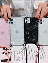cheap -Marble Phone Case For iPhone SE 2020 / 11 / 11Pro / 11 Pro Max /  X / XS / XS Max / XR/ 8 /  8Plus / 7Plus / 7 / 6S / 6S Plus / 6Plus /6 Dream Shell Pattern Cases With Lanyard Soft TPU Silicone Coque