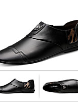 cheap -Men's Summer Casual Daily Loafers & Slip-Ons PU Non-slipping Black / Brown
