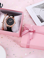 cheap -Unisex Quartz Watches Classic Fashion Black Brown Grey PU Leather Quartz Blushing Pink Brown Black Chronograph New Design Casual Watch 1 set Analog