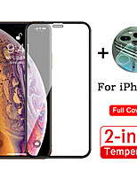 cheap -2 in 1 Full Cover HD Tempered Glass Protective Film For iPhone 11 / 11 Pro / 11 Pro Max With 3D Full Cover Camera Lens Protective Film Anti-Scratch Anti-Fingerprint Protective Film 1 Piece Each