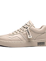 cheap -Men's Spring / Fall Casual Daily Sneakers PU White / Black / Beige