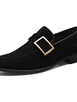 cheap -Men's Summer / Fall Classic / Casual Daily Office & Career Loafers & Slip-Ons PU Non-slipping Wear Proof Black / Yellow / Coffee